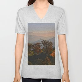 Hilly Landscape Unisex V-Neck