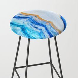 Blue and gold agate Bar Stool