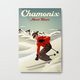 Chamonix Ski Poster Metal Print