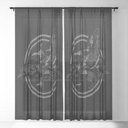 Scorpion GREY Sheer Curtain