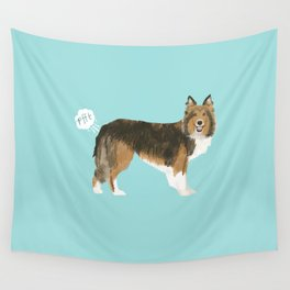 sheltie funny farting dog breed pure breed pet gifts Wall Tapestry