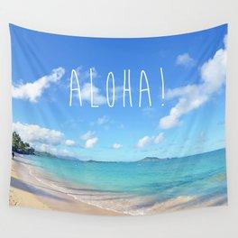Lanikai Aloha v2 Wall Tapestry