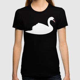 Swan pattern on pink 033 T-shirt