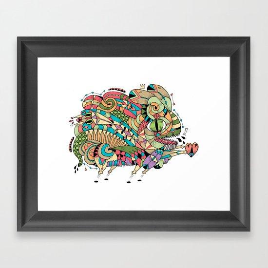 Monster Bunny Framed Art Print