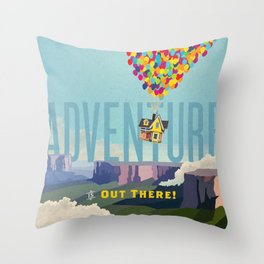 UP - Adventure Is Out There! Throw Pillow