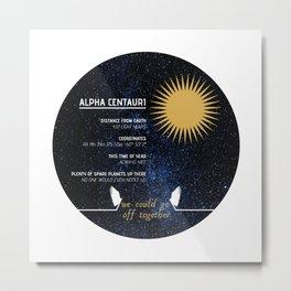 Alpha Centauri - Good Omens Fanart Metal Print