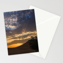 Sunset at the desert, Erg Chebbi Stationery Cards