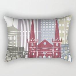 Fresno skyline poster Rectangular Pillow