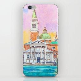Venice. San Giorgio Maggiore. Andrea Palladio. Architecture. Watercolor iPhone Skin