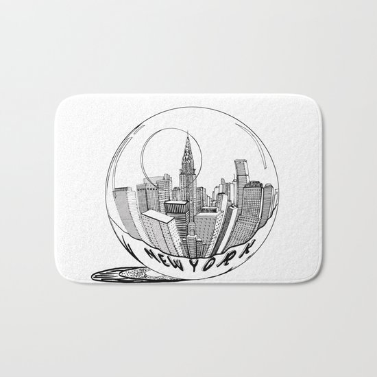 New York in a glass ball Bath Mat