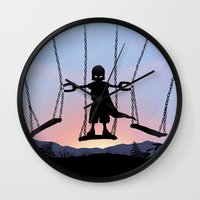 magneto Wall Clocks featuring Magneto Kid by Andy Fairhurst Art
