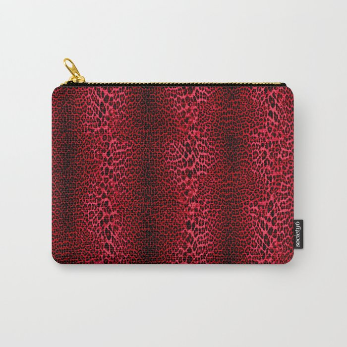 Red Leopard Pattern V1 Carry-All Pouch