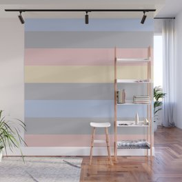 Stripes in pastel colors. Wall Mural