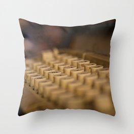 Máquina de escribir Throw Pillow