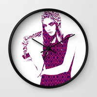 cara delevingne Wall Clocks featuring Cara Delevingne by fashionistheonlycure