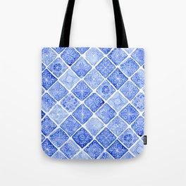 Blue Tiles Tote Bag