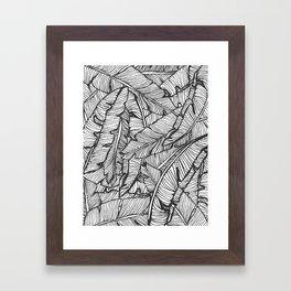 Black & White Jungle #society6 #decor #buyart Framed Art Print