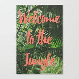 Welcome to the Jungle Poster Canvas Print