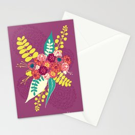 Violet flower bunch Stationery Cards