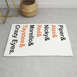 Orange is The New Black Character Names Rug