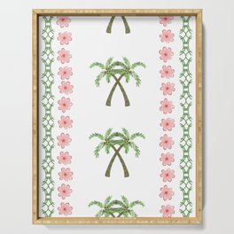 A Pair of Palm Trees   Serving Tray