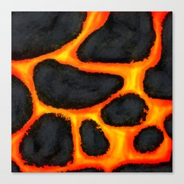 Lava Rocks Canvas Print