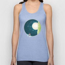 Where nature ends Unisex Tank Top