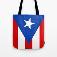 puerto rico Tote Bags featuring Puerto Rico by McGrathDesigns