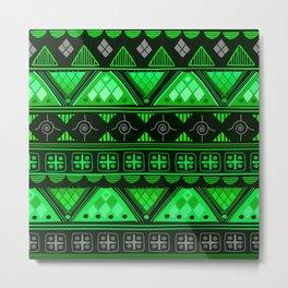 Boho Geometric Pattern Var. 11 Metal Print