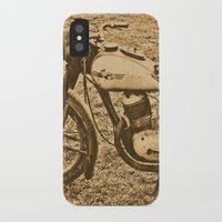 motorcycle iPhone & iPod Cases featuring Jawa motorcycle by AhaC