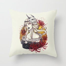 The Lady Grim Throw Pillow