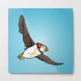 Puffin Wearing A Hat Metal Print