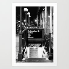 Christopher St. Station. West Village. New York, NY. 2014. Art Print