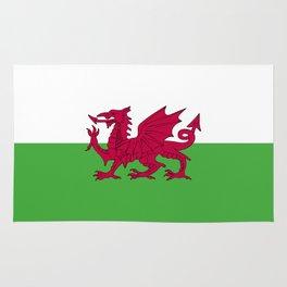 Wales flag emblem Rug