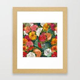 Old school roses Framed Art Print