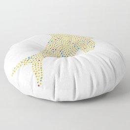 Dolphin emoji design Floor Pillow