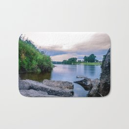 Long Exposure Photo of The River Tay in Perth Scotland Bath Mat