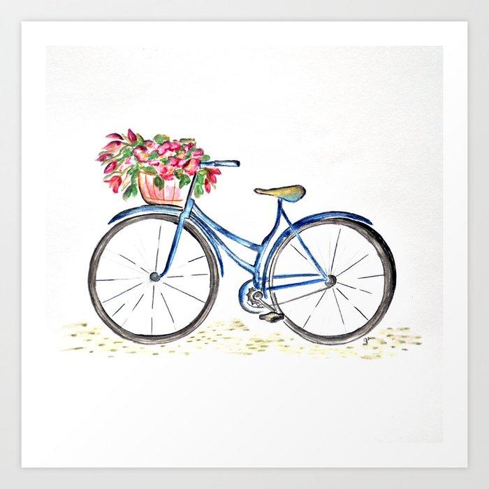 Spring bicycle Kunstdrucke