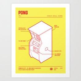 ARCADE CAB - PONG Art Print