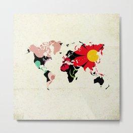 Flower map Metal Print