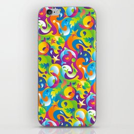 Dolphins, Seals and Sea Life in Tropical Ocean Waves iPhone Skin
