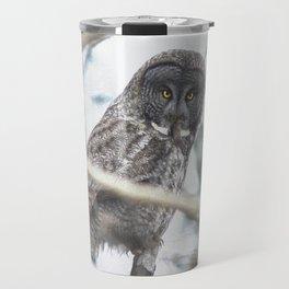 Let Us Prey - Great Grey Owl & Mouse Travel Mug