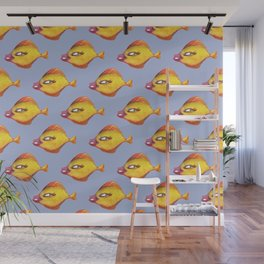 Fish Make Up pattern Wall Mural