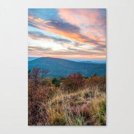 Talimena Mountain Landscape Sunset - Oklahoma Arkansas Byway Canvas Print