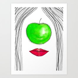 My Apple P-eye Art Print