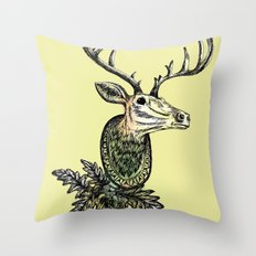Deer Head Throw Pillow