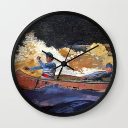 Winslow Homer1 - Shooting The Rapids, Saguenay River - Digital Remastered Edition Wall Clock