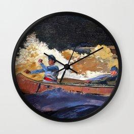 Shooting The Rapids, Saguenay River - Digital Remastered Edition Wall Clock
