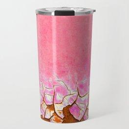 Pink and Rust Travel Mug