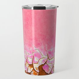 Pink and Rust Travel Mug